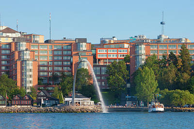 Buidling Photograph - Sweden, Stockholm - Modern Offices by Panoramic Images