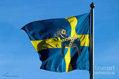 Sweden Two Symbols Art Print by Torbjorn Swenelius