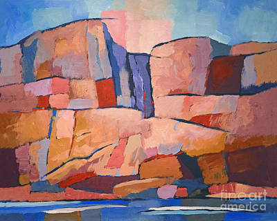 Rocky Painting - Swedish Cliffs by Lutz Baar