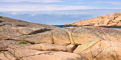 Photograph - Swedish Cliffs Panorama by Lutz Baar