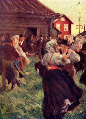 Swedish Countryfolk Dance Art Print