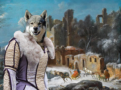 Painting - Swedish Elkhound - Jamthund Art Canvas Print  by Sandra Sij