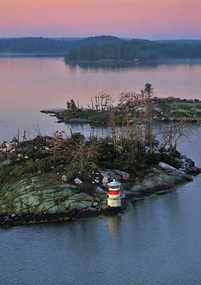 Photograph - Swedish Lighthouse At Dawn by Marianne Campolongo