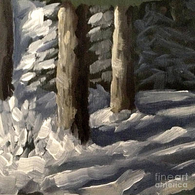 Painting - Swedish Winter Light by Ric Nagualero