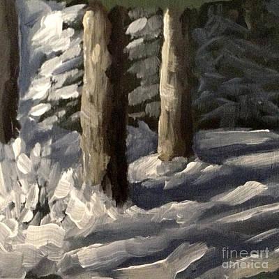 Painting - Swedish Winter Light by Ric Nagualero