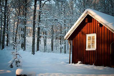 Swedish Winter Print by Robert Hellstrom