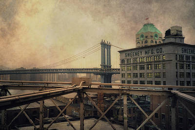 Photograph - Sweeney Manufacturing And The Manhattan Bridge - New York City by Joann Vitali