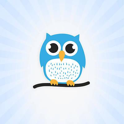 Sweet And Cute Owl Art Print by Philipp Rietz