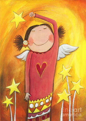 Crafts For Kids Painting - Sweet Angel by Sonja Mengkowski