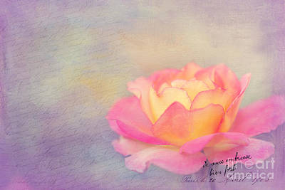 Floral Digital Art Digital Art - Sweet Are The Memories by Beve Brown-Clark Photography