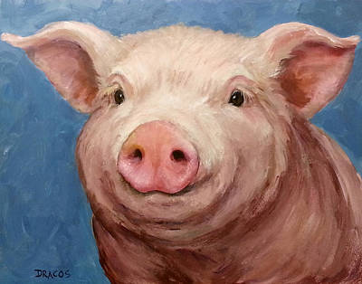 Sweet Baby Pig Portrait Art Print