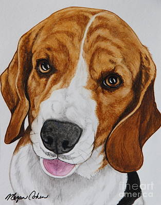 Wall Art - Painting - Sweet Beagle by Megan Cohen