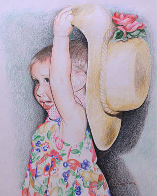 Drawing - Sweet Caroline by Kathy Weidner
