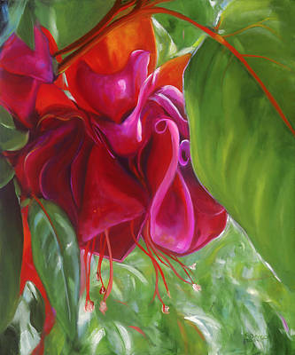 Painting - Hot Pink Fuchsia by Patricia Benson