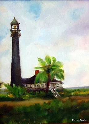 Painting - Sweet Charlie Lighthouse by Betty Pimm