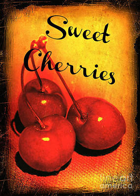 Photograph - Sweet Cherries - Kitchen Art by Carol Groenen