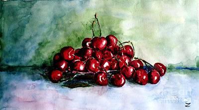 Painting - Sweet Cherries by Zaira Dzhaubaeva