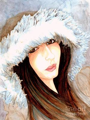 Painting - Brown Eyed Girl by Janine Riley