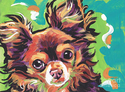 Colorful Dog Painting - Sweet Choco Chi  by Lea S