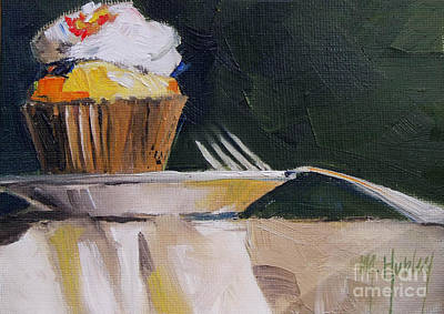 Sweet Cupcake Art Print by Mary Hubley