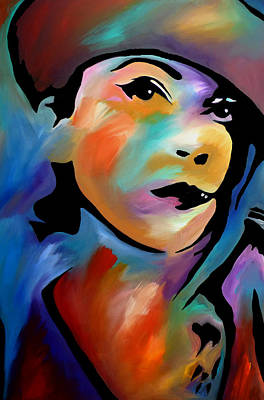 Dog Abstract Art Painting - Sweet Dispostion by Tom Fedro - Fidostudio