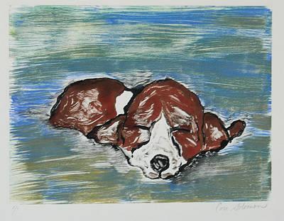 Puppies Mixed Media - Sweet Dreams by Cori Solomon