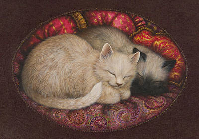 Sleeping Cat Painting - Sweet Dreams by Lynn Bywaters