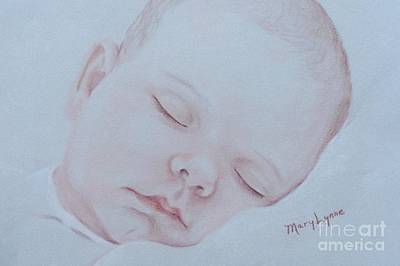 Art Print featuring the drawing Sweet Dreams by Mary Lynne Powers
