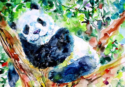 Panda Illustration Painting - Sweet Dreams Panda by Fabrizio Cassetta