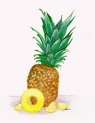 Painting - Sweet Hawaiian Pineapple Illustration by Nan Wright
