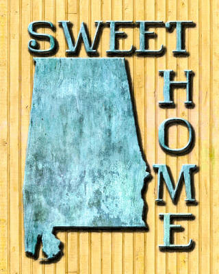 Digital Art - Sweet Home Alabama by Mark Tisdale