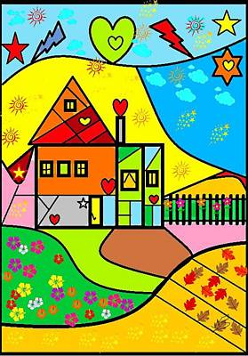 Sweet Home By Nico Bielow Art Print by Nico Bielow