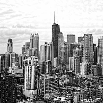 Sweet Home Chicago Bw Art Print