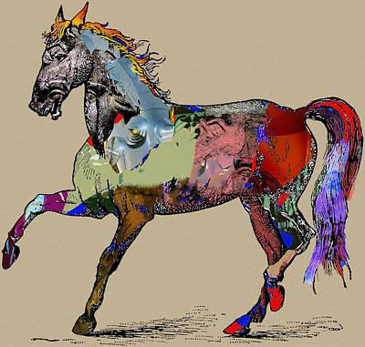 Sweet Horse Art Print by Francis Erevan