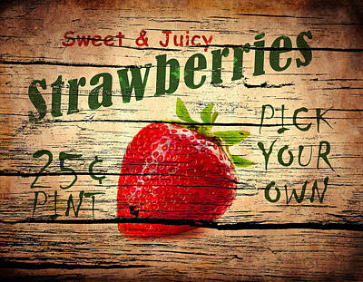 Photograph - Sweet Juicy Strawberries by Mark Rogan