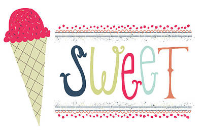 Ice-cream Painting - Sweet by Katie Doucette