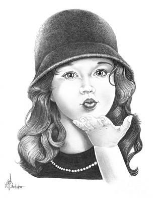 Drawing - Sweet Kiss by Murphy Elliott
