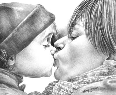 Nana Drawing - Sweet Kiss by Natasha Denger