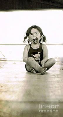 Photograph - Sweet Little Girl by Karen Adams