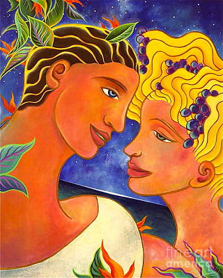 Faith Hope And Love Painting - Celestial Lovers by Gem S Visionary