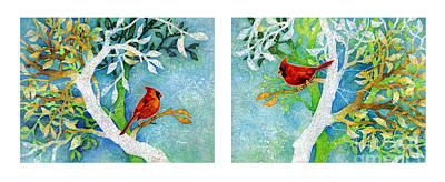 Painting Rights Managed Images - Sweet Memories Diptych Royalty-Free Image by Hailey E Herrera