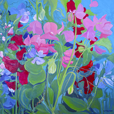 Painting - Sweet Pea Tango by Rebecca Gottesman