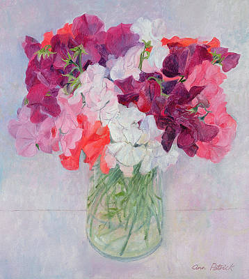 Lively Painting - Sweet Peas by Ann Patrick