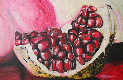 Sweet Pomegranate Art Print by Michael Amos