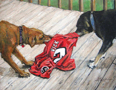 Vick Painting - Sweet Revenge by Donna Tucker