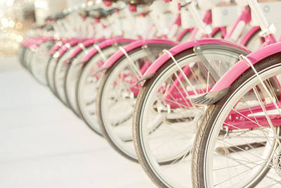 Girls In Pink Photograph - Sweet Rides by Amy Tyler