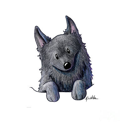 Sweet Schipperke Art Print by Kim Niles