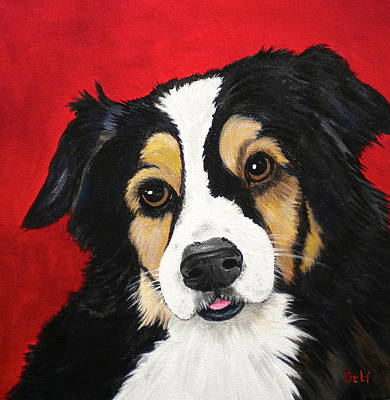 Dog Close-up Painting - Sweet Scout by Debi Starr