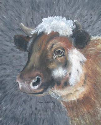 Sweet Shirley The Cow Art Print by Claude Schneider