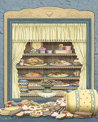 Cookie Jar Wall Art - Painting - Sweet Shop by Beverly Levi-Parker